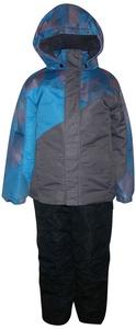 Pulse Little Boys 2 PC Snowsuit Ski Jacket and Snow Bibs Fade (Large (7), Teal/Black)