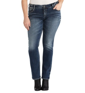 Silver Jeans Co. Elyse Straight Rinse Wash 22 x 32