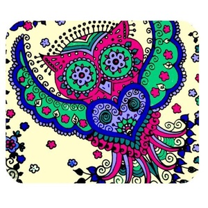 DreamOffice-Custom Owl Mouse pad Gaming Mouse Mat Cloth Cover Support Wired Wireless or Bluetooth Mouse,9.84