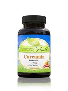 Curcumin (95% Curcuminoids) | Potent Anti-Inflammatory and Antioxidant | 100 Capsules 500mg per Capsule by Absorb Health