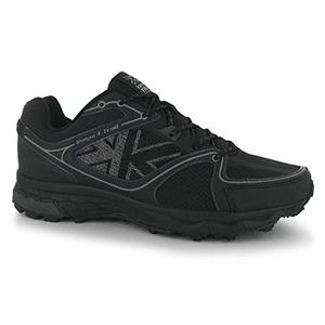 Mens Karrimor Tempo 4 Trail Running Shoes Black Silver (UK 8.5 / US 9)