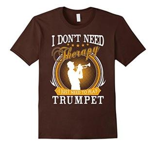 Men's Trumpet T-Shirt 3XL Brown