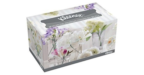 Kleenex Facial Tissue White - Assorted Box Designs - 240 Count (Pack of 18) by Kleenex