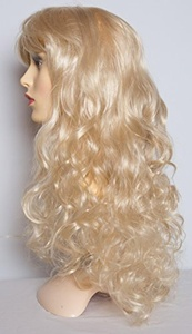22 Ladies Full Length Long WIG Clip In Hair Piece CURLY Light Blonde #613 by Elegant Hair