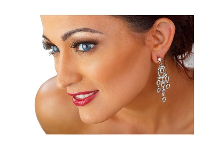 LR Bridal Womens Silver Rhinestone Wedding, Prom, Anniversary Chandelier style Earrings