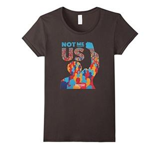 Women's Not Me Us T-Shirt Large Asphalt