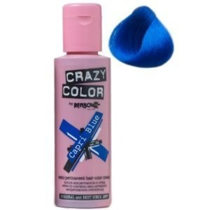 Crazy Color Semi Permanent Hair Color Cream Capri Blue No.44 100ml , 4 Count by Crazy Color