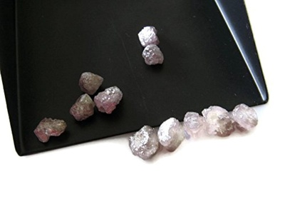 1 Piece - Pink Rough Diamond, Natural Diamond, Raw Diamonds, Uncut Diamonds - 7mm Approx, SKU-D22