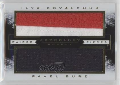 Ilya Kovalchuk; Pavel Bure #/199 (Hockey Card) 2015-16 Panini Anthology Paired Pieces Relics #PP-KB