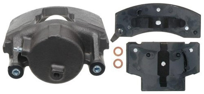 ACDelco 18R981 Professional Front Passenger Side Disc Brake Caliper Assembly with Pads (Loaded), Remanufactured by ACDelco