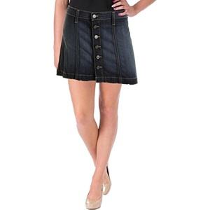 Flying Monkey Womens Denim Button Front Denim Skirt Blue 25