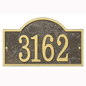 Whitehall Fast & Easy Arch Numbers Plaque, Bronze by Whitehall
