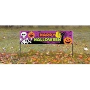 Happy Halloween Lawn Banner by Party Bags 2 Go