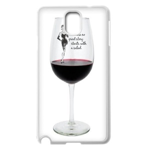 Samsung Galaxy note3 Case, LEDGOD Fashionable Gift DIY Red Wine Glass White Cover Phone Case for Samsung Galaxy note3 Shell Phone.