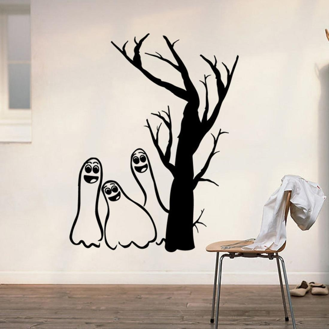 Online Store Homefind Halloween Removable Scary Ghosts Under Tree