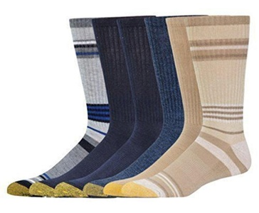 Gold Toe Men's 6 Pack Crew Socks