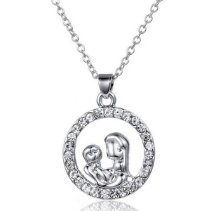 Gudeke Fashion Simple Womens Mens Couple Clavicle Chain Necklaces Pendant with 50cm Chain