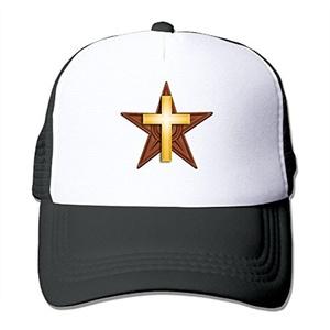 Christianity Cross Fashion Black Mesh Hat