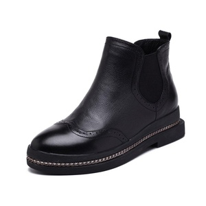 leather boots with/Ji Yinglun wind in autumn and winter shoes-A Foot length=22.8CM(9Inch)