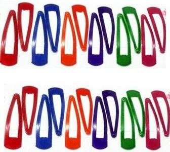 Tic Tac Clip(Red, Green, Blue, Orange)- Pack of 24