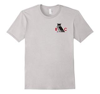 Men's Owl T-Shirt 2XL Silver