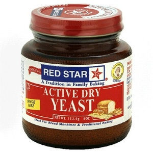 Red Star Active Dry Yeast, 4-Ounce Jars (Pack of 3) by Red Star