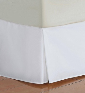 Bedskirt 450 TC WHITE Cal King Size Bed-Skirt with 19