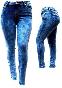SL26 WOMENS PLUS SIZE BLUE Medium Wash Butt Lift SKINNY DENIM JEANS PANTS (20)