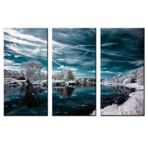 VVOVV Wall Decor - Contemporary Art Abstract Paintings Ice And Snow Lake Modern Lanscape Wall Art Beauty World Landscape Prints Home Decorations 35x70cmx3pcs,unframe