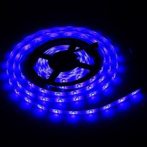 16.4ft 5M SMD 5050 Waterproof 300LEDs-LED Flash Strip Light ,LED Flexible Ribbon Lighting Strip,12V 60W (Blue)
