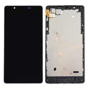 Black Touch Digitizer LCD Display Screen Assembly+Frame For Microsoft Lumia 540