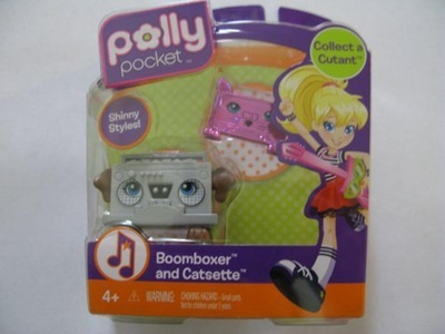 Polly Pocket Collect A Cutant Boomboxer and Catsette Figures by Polly Pocket