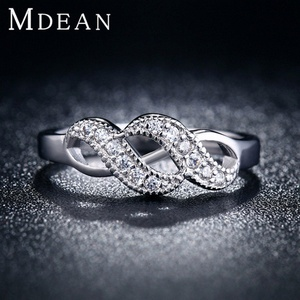 Slyq Jewelry white gold plated Ring fashion jewelry retro Ring Geometric engagement Ring bague MSR018