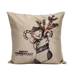 Iuhan Fashion Christmas Pillow Case Sofa Waist Throw Cushion Cover Home Decor