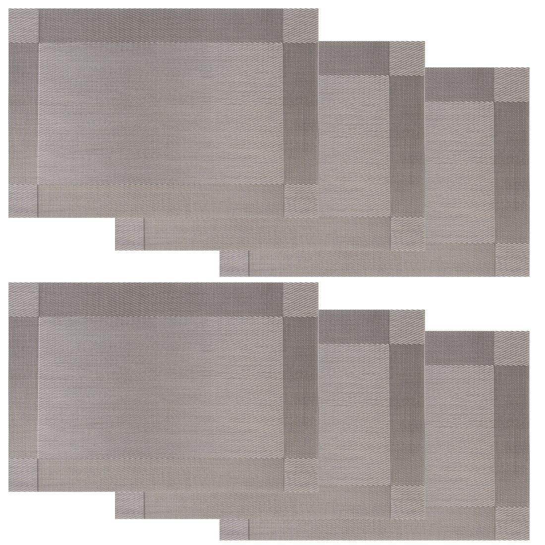 Online Store Borlan Vinyl Grey Placemats Heat Resistant  : borlan vinyl grey placemats heat resistant dining table mats non slip washable place mats set of 6 grey from www.top1price.com size 1100 x 1100 jpeg 441kB