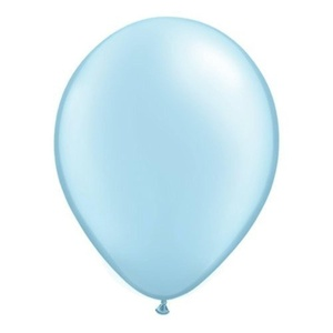 Pearl Light Blue 5 Qualatex Latex Balloons x 10 by Pearlised Solid Colour 5 Latex