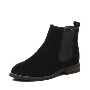 autumn and winter boots/Flat-bottom leather shoes of England-A Foot length=23.3CM(9.2Inch)