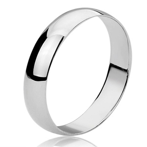 Free Engraving Personalized Sterling Silver 7MM Domed Wedding Band Ring