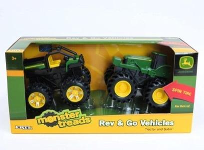 TOMY International John Deere Rev N Go Vehicle Muddy Tractor and Dump Truck (2 Pack) by Tomy International