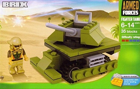 BRIX building blocks by Brix Armed Forces Fighter Tank