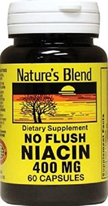 Nature`s Blend Niacin No Flush 400mg Capsules 60 Count (5 Pack)