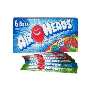 Air Heads Chewy Sweet and Sour Fruit Candy Theater Box, 6 count per pack -- 12 per case.