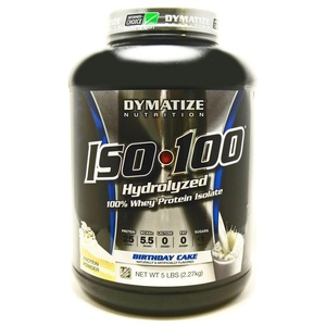 Bundle - 2 Items : 1 ISO 100 Birthday Cake Protein By Dymatize - 5 Pounds and 1 VDC Shaker Cup