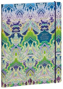2016-2017 Monthly Indian Paisley Sewn Engagement Calendar Planner
