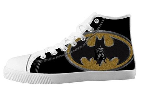 Custom High Top Lace Up Canvas For Men's Shoes For Batman Fans Design-9M(US)