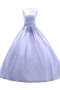 Ivydressing Ball Gown Scoop Satin Prom Dress Long Evening Party Formal Gown-22W-Lilac