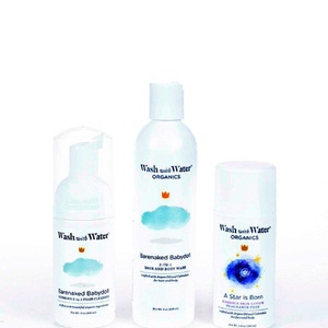 Wash with Water - Certified Organic Infant I Newborn I Baby I Toddler Skin Care Collection Bundle I For Eczema or Delicate Skin