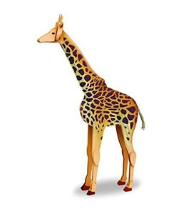 Giraffe 3D Modeling Kit 100% Recycled Product & Instructions NEW by 3d