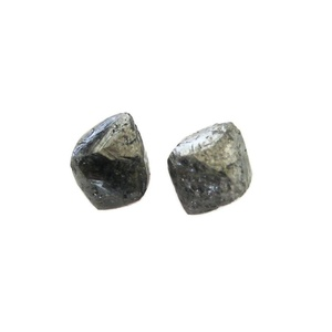 2 Piece Matched Pairs, Grey Diamond Crystals, Natural Raw Rough Diamond, Uncut Loose Diamond, 5mm Approx