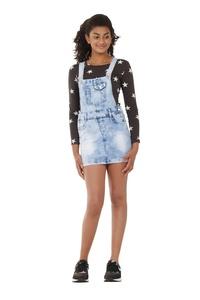 Light Wash Denim Dungaree Dress 8-16 Years Girl & Teen Bib overall skirt